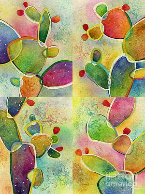 Abstract Oil Paintings Color Pattern And Texture - Prickly Pizazz Collage by Hailey E Herrera