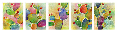 Target Threshold Watercolor - Prickly Pizazz Series by Hailey E Herrera