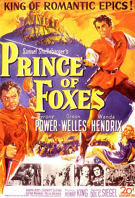 Royalty-Free and Rights-Managed Images - Prince of Foxes - 1949 by Stars on Art