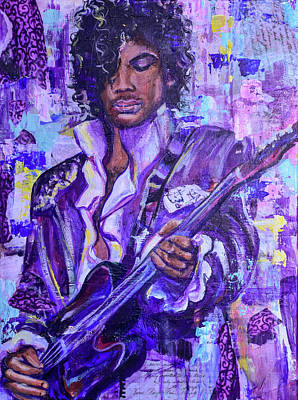 Painting - Prince Purple Rain by Christina Carmel