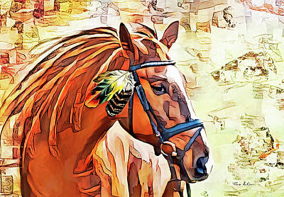 Animals Royalty-Free and Rights-Managed Images - Princess Horse by Tina LeCour