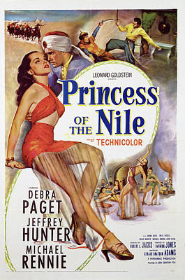 Typography Tees - Princess of the Nile, with Debra Paget, 1954 by Stars on Art
