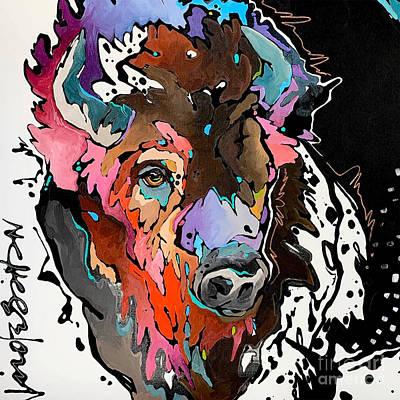Painting - Prismatic Bison by Nicole Gaitan
