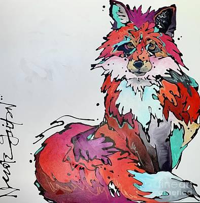 Painting - Prismatic Fox by Nicole Gaitan
