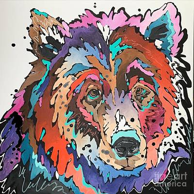 Painting - Prismatic Grizzly by Nicole Gaitan