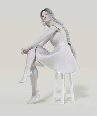 Surrealism Digital Art - Profound Pale Portrait of Beauty by Betsy Knapp