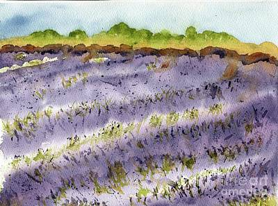 Painting - Provence Lavender Fields by Andrea Rubinstein