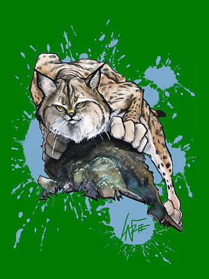 Royalty-Free and Rights-Managed Images - Prowling Lynx by Canine Caricatures Custom Merchandise