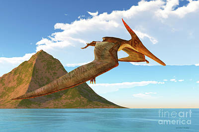 David Bowie Royalty Free Images - Pteranodon Afternoon Flight Royalty-Free Image by Corey Ford