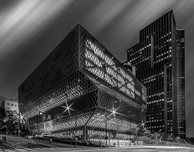 Photograph - Public Library Seattle by Christian Redermayer