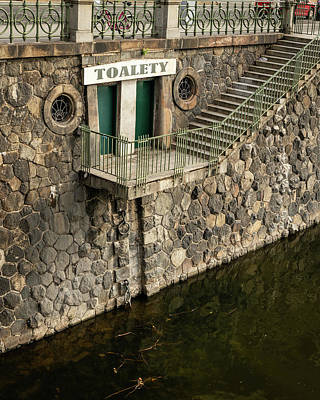 Vintage Buick - Public toilet near National Theatre at river Vltava in Prague by Stefan Rotter