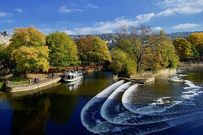 Halloween Movies - Pulteney Weir, Bath, Somerset, England. by Joe Vella