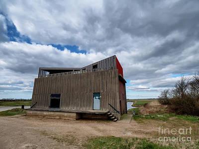 American Milestones - Pumpimg station North in Skjern meadows, Denmark by Frank Bach