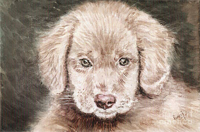 Painting - Pup mused by Remy Francis