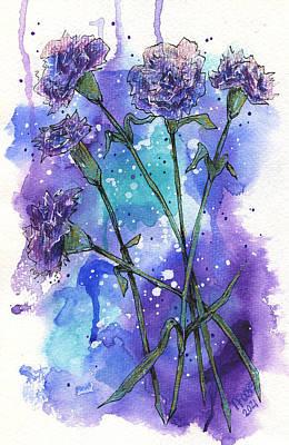 Vintage Performace Cars - Purple Carnations by Taphath Foose