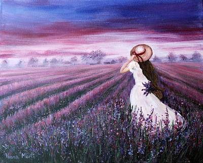 Valentines Day - Purple field by Vesna Martinjak