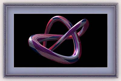 Digital Art - Purple Route To Eternal by Clive Littin