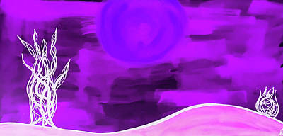 Royalty-Free and Rights-Managed Images - Purple Moon by Jamie Lynn