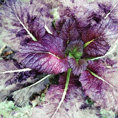 Digital Art - Purple Mustard by Debbie Smith