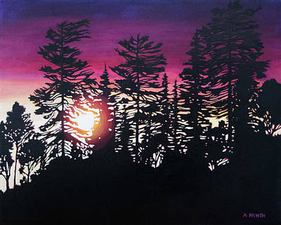Painting - Purple Sunset by Alison Newth