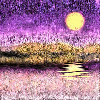Royalty-Free and Rights-Managed Images - Purple sunset by Bruce Rolff