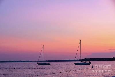 Open Impressionism California Desert - Purple Sunset by Vera Chwostyk