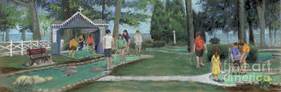 Sports Paintings - Put-Put at Lakeside, Ohio by Terri  Meyer