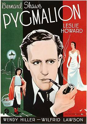 Mixed Media Royalty Free Images - Pygmalion, with Leslie Howard, 1939 Royalty-Free Image by Stars on Art