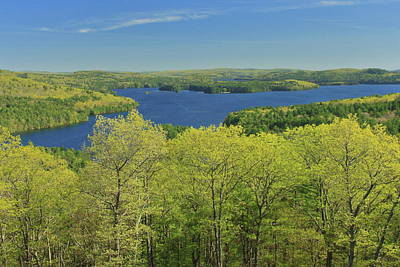 Staff Picks Judy Bernier Rights Managed Images - Quabbin Reservoir Soapstone Hill Spring Leafout Royalty-Free Image by John Burk