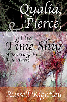 Digital Art - Qualia, Pierce, and the Time Ship Book Cover by Russell Kightley