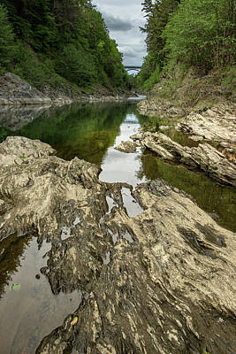 Landscapes Royalty-Free and Rights-Managed Images - Quechee Gorge 10 by Dimitry Papkov