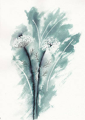 Winter Animals - Queen Annes Lace in Ink by Conni Schaftenaar