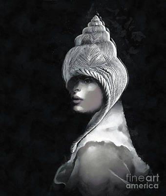 Surrealism Mixed Media - Queen for a day by Jacky Gerritsen