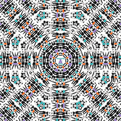 Digital Art - R and P Kaleidoscope by Brian Gryphon