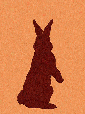 Royalty-Free and Rights-Managed Images - Rabbit Silhouette - Scandinavian Nursery Decor - Animal Friends - For Kids Room - Minimal by Studio Grafiikka