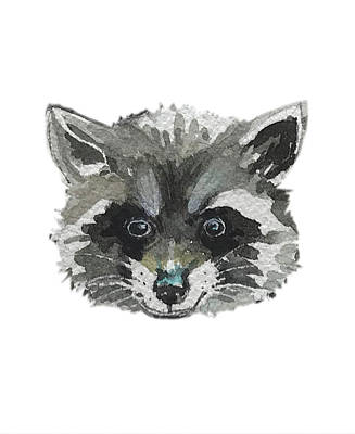 Landscape Photos Chad Dutson - Raccoon Facemask by Luisa Millicent