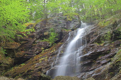 Staff Picks Judy Bernier Rights Managed Images - Race Brook Falls Lower Falls in Spring Royalty-Free Image by John Burk