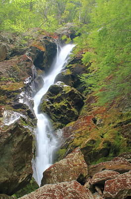 Featured Tapestry Designs - Race Brook Falls Upper Falls by John Burk