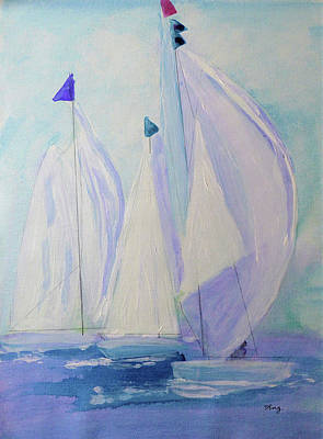 Sports Paintings - Race Day by Sharon Williams Eng