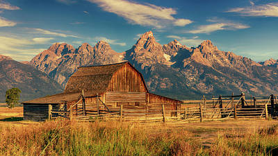 Vermeer Rights Managed Images - Radiant Beauty -- Tetons and Moulton Barn Royalty-Free Image by Stephen Stookey