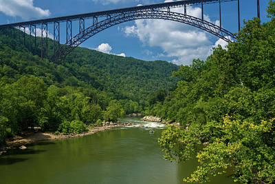 Photograph - Rafters at the New River Gorge Bridge in West Virginia by Steven Heap