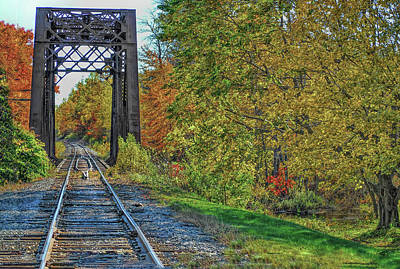 Fine Dining - Railroad tracks in Maine by Cordia Murphy