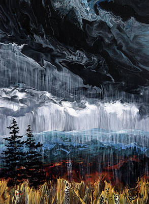 The Beach House - Rain in the Pacific Northwest Autumn by Laura Iverson
