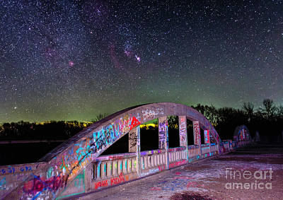 Photograph - Rainbow Bridge and Orion by Willard Sharp