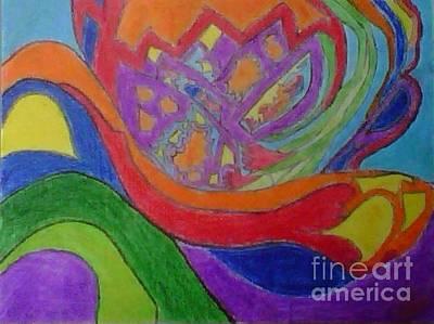 Digital Art - Rainbow Flower Wave by Kari Myres