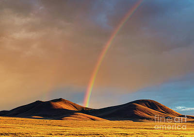 Photograph - Rainbow In Nevada by Henk Meijer Photography