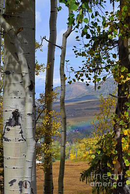 Photograph - Rainbow in Telluride by Sherry Little Fawn Schuessler