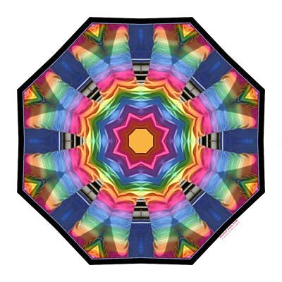 Digital Art - Rainbow Linens 21k8 by Brian Gryphon