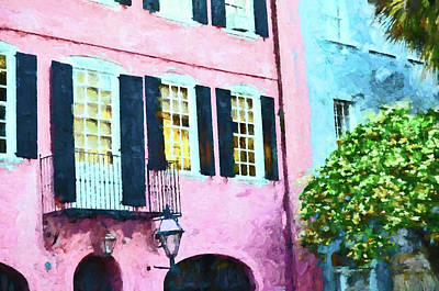 Movies Star Paintings - Rainbow Row 3 - Charleston by Allen Beatty