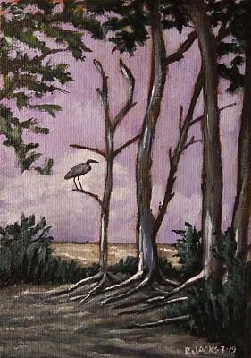 Animals Paintings - Rainers Heron by Paul Jacks